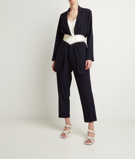 Otto d'ame Pleated trousers blue