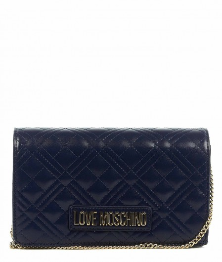 Love Moschino Quilted crossbody bag navy