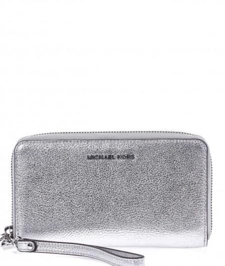 "Michael Kors Wallet ""Jet Set"" with smartphone insert silver"