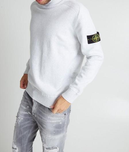 Stone Island Turtleneck sweater light gray