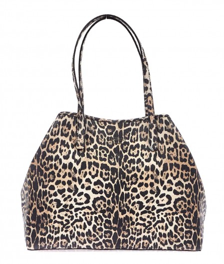 Guess Shopper with animal print creme