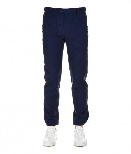 Lanvin Cargo-Style-Hose aus Wolle Dunkelblau