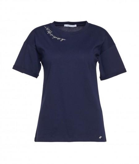 "Kaos T-Shirt ""Life"" Blau"