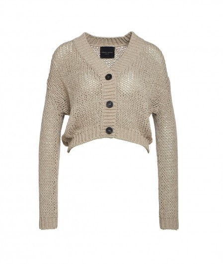 Roberto Collina Knitted cardigan beige