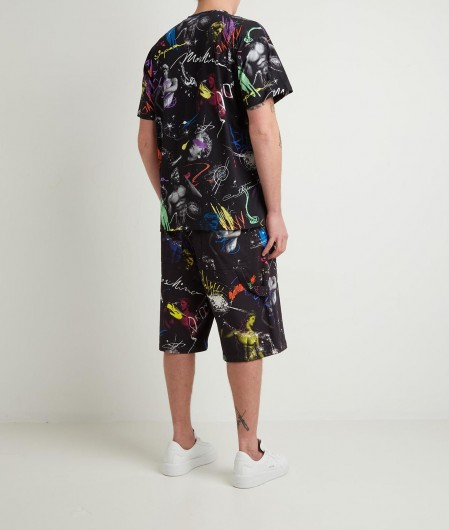 Moschino Shorts with all-over print black