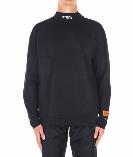 Heron Preston Leichter Pullover mit Logostickerei Schwarz