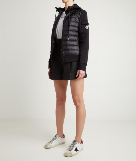 Moncler Down and fleece jacket black