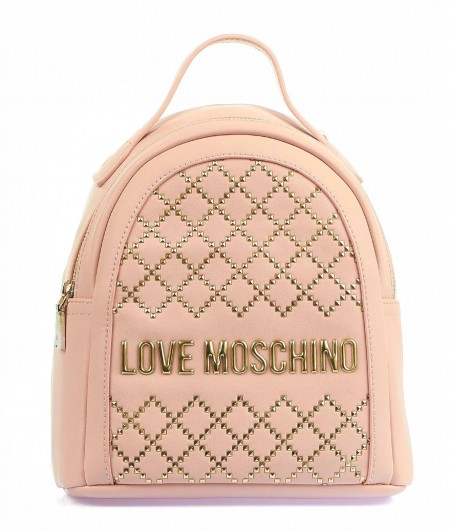 Love Moschino Backpack with studs light rose