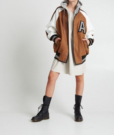 Twin Set Bomber with patches brown