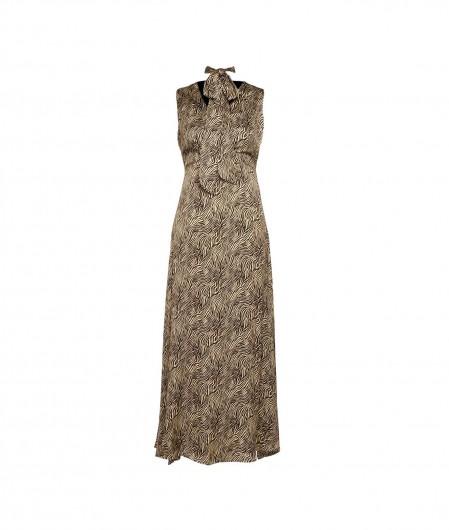 Kaos Wrap dress mit Zebra-Print Hellbraun