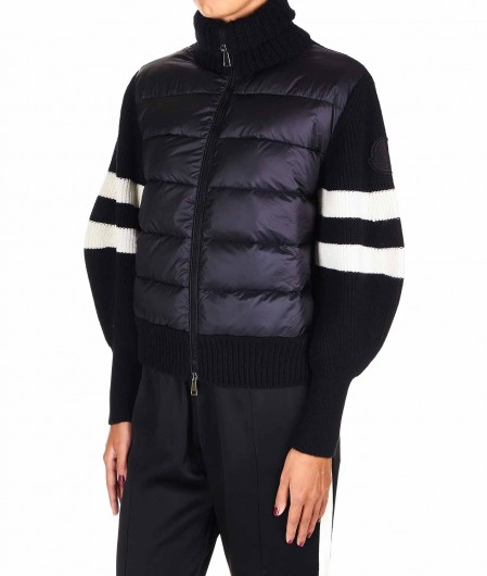 Moncler Giacca in nylon e maglia nero