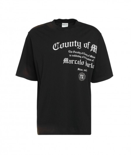 Marcelo Burlon County Degree Over T-Shirt Schwarz