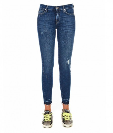 """7 for all mankind Jeans """"The skimmy crop"""" Blau"""