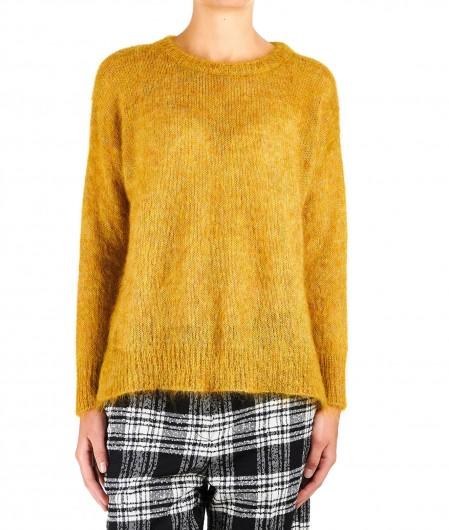 "8PM Mohair blended sweater ""Denebola"" mustard"