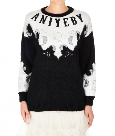 Aniye By Sweater with logo details black