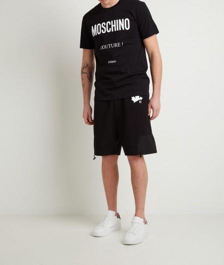 Moschino T-Shirt mit Logoschrifzug Schwarz