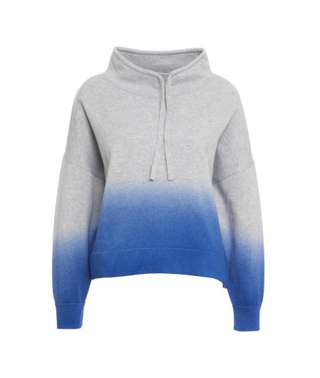 360 Sweater Hoodie im Farbverlauf Grau