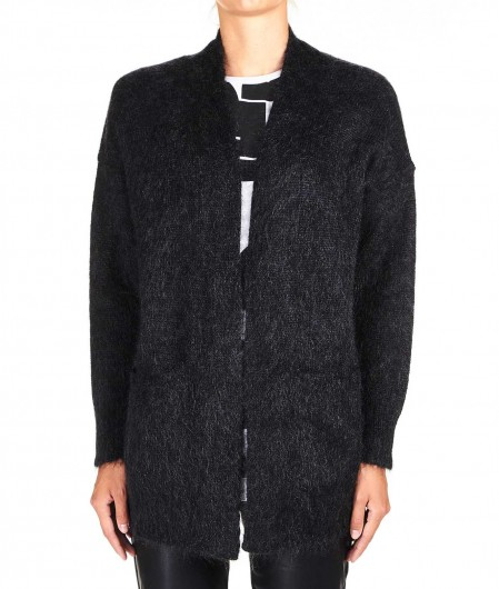 "8PM Cardigan in Mohair blend ""Dragone"" dark gray"