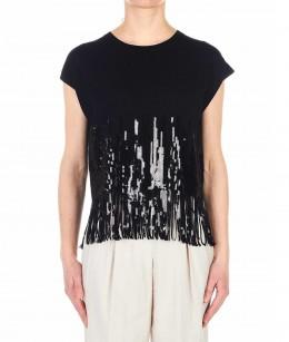 Guess T shirt in maglia con stampa animalier marrone chiaro