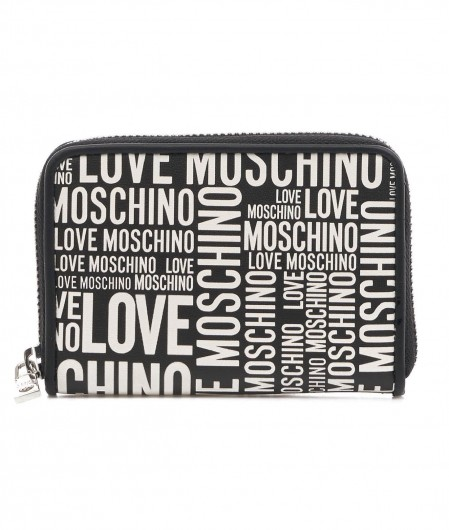 Love Moschino Portemonnaie mit Logoprint Schwarz