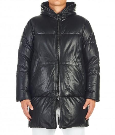Giorgio Brato Leather coat black