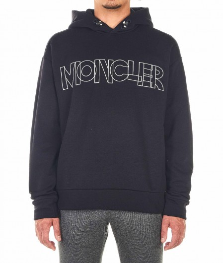 Moncler Sweater with logo writing black