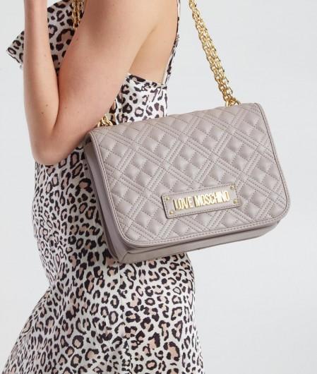 Love Moschino Shoulder Bag gesteppt Grau