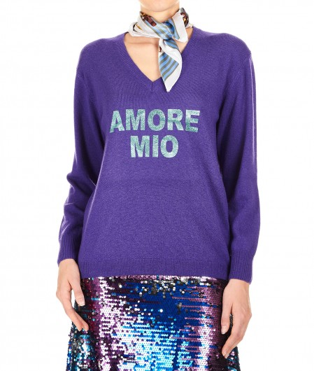 5 Progress Sweater in wool blend Amore Mio violet