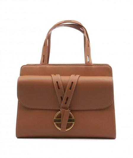 Love Moschino Handbag with buckle Camel