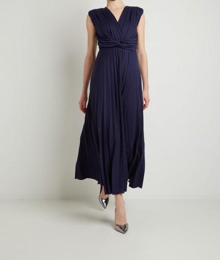 Kaos Lurex dress navy