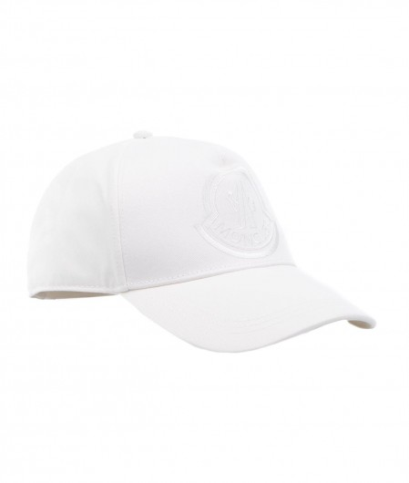 Moncler Baseball cap with logo embroidery white