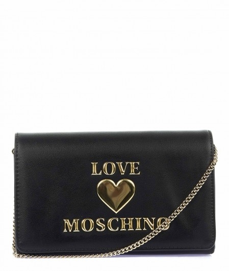 Love Moschino Cross body bag with logo writing black
