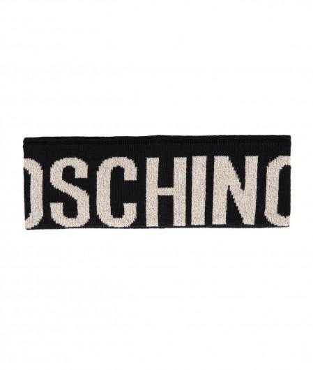 Moschino Headband con logo gold