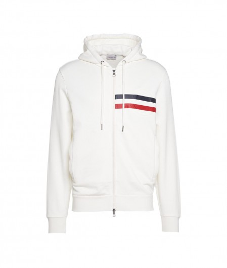Moncler Sweat jacket with logo details white