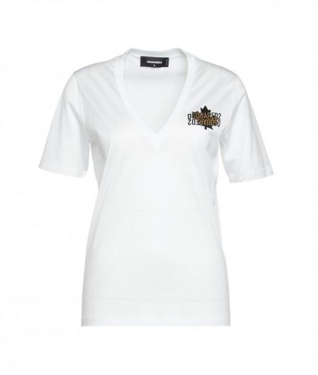 Dsquared2 T-Shirt mit Logo Weiß