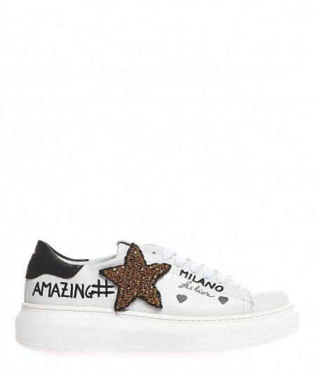 Gio+ Sneaker mit Strass-Applikation Weiß