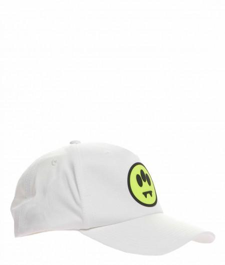 Barrow Baseball-Cap mit aufgedrucktem Emoji Weiß