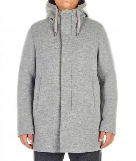 Herno Wool blended coat light gray