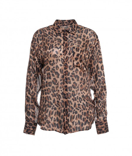 Dsquared2 Animalier blouse brown