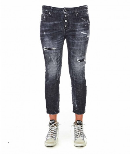 """Dsquared2 Jeans """"Cool girl cropped"""" Dunkelgrau"""