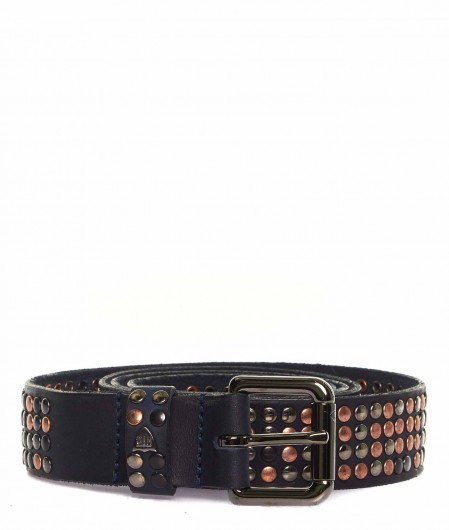 HTC Belt with stud details navy