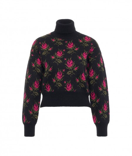 RED Valentino  Sweater with floral motif black