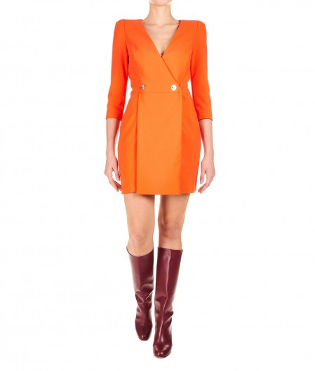 Elisabetta Franchi Blazer-style dress orange