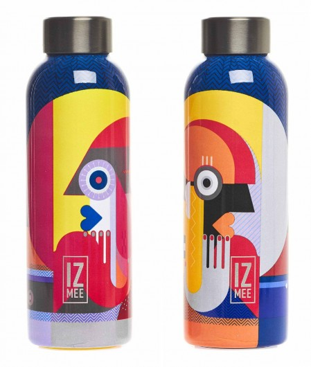 """Izmee Thermos water bottles """"Graphic love"""" multicoloured"""