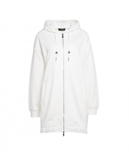 Twin Set Actitude Hoodie oversized with logo white