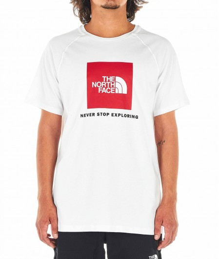 The North Face T-shirt with logo print white