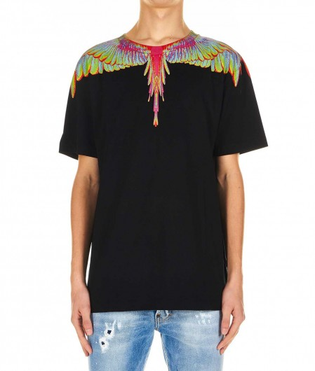 """Marcelo Burlon T-shirt """"Fluo Wings"""" black"""