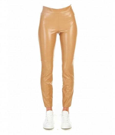 "Cambio Faux leather leggings ""Randa"" beige"