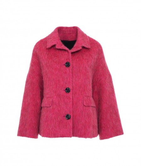 Breras Jacke in Wollgemisch Pink