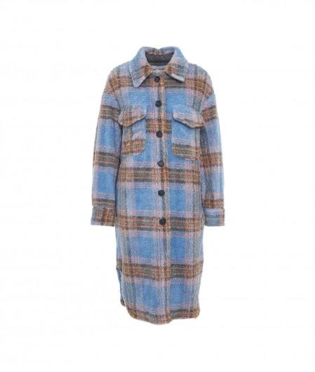 Front Street 8 Oversized shirt in glitter finish light blue